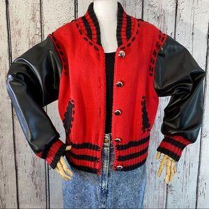 RARE Vintage Michael Simon Varsity Bomber Jacket
